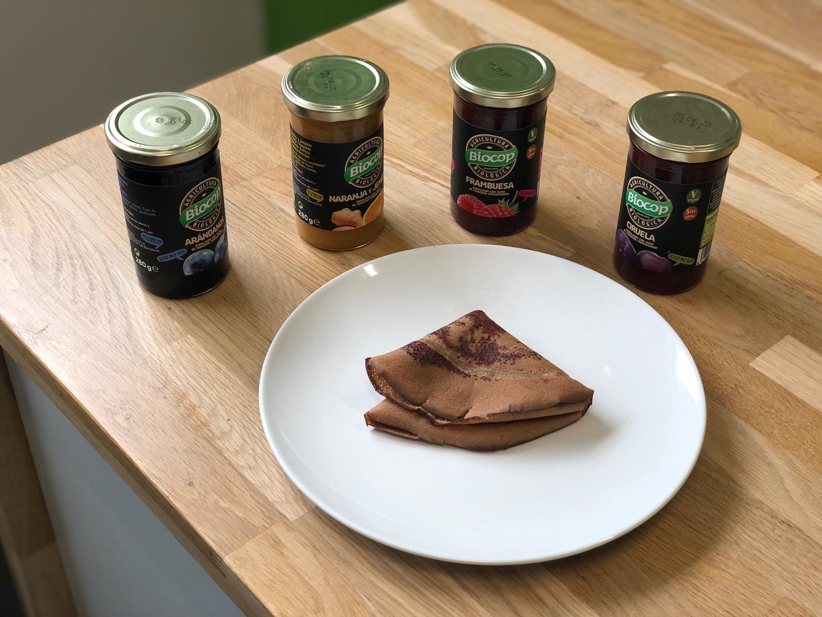 Tortitas de avena con sabor brownie