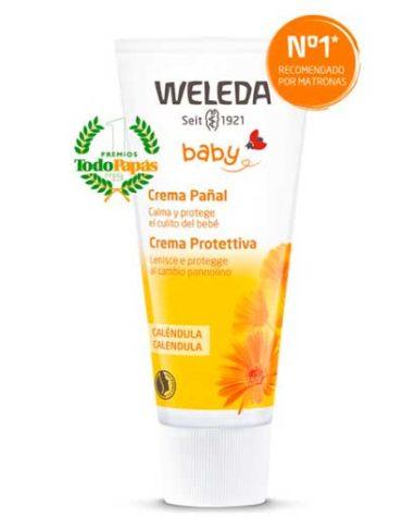 crema de pañal de calendula para el bebe