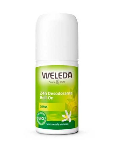 desodorante roll on citrus natural de weleda