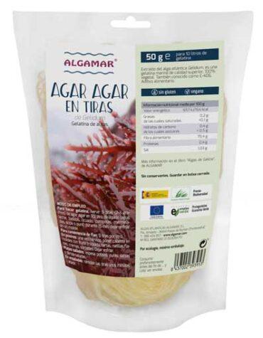 Descubre la comida macrobiótica AGAR AGAR EN TIRAS 50 grs