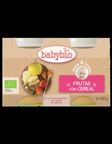 Cuida de los pequeños con nuestra alim infantil Babybio Frutas con Cereales 2x130grs