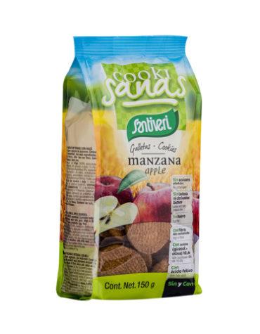 Disfruta de la repostería y chocolates GALLETAS COOKISANAS MANZANA 150GRS