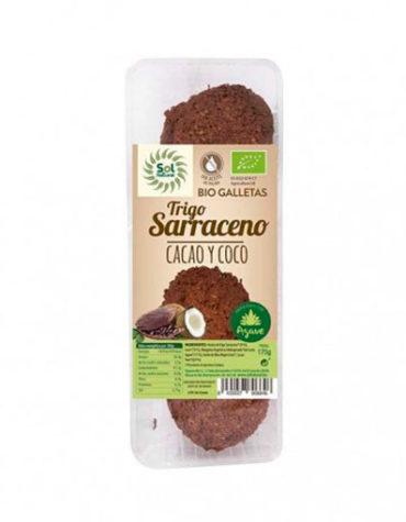 Disfruta de la repostería y chocolates GALLETAS DE TRIGO SARRACENO CON CACAO Y COCO