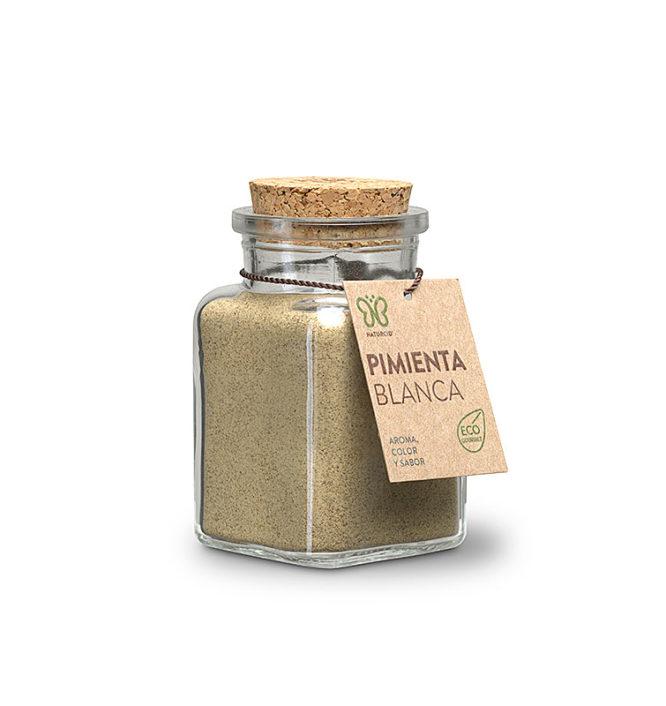 Descubre nuestras sales, condimentos y salsas PIMIENTA BLANCA MOLIDA 80GRS ECO VEGANO