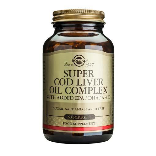 Baja los niveles de colesterol SUPER COD LIVER OIL COMPLEX. Cápsulas Blandas.