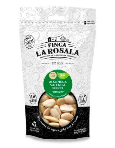 Descubre nuestros aperitivos y frutos secos ALMENDRA VALENCIA SIN PIEL NATURAL 150 GRS BIO S/GLUTEN VEGANO