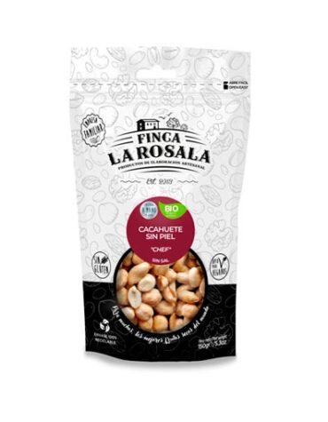 Descubre nuestros aperitivos y frutos secos CACAHUETES SIN PIEL TOSTADOS 150 GRS BIO S/GLUTEN VEGANO
