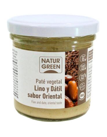 Disfruta de los patés y carnes vegetales PATE DE LINO Y DATIL SABOR ORIENTAL BIO 130G