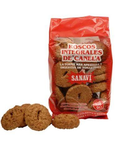Disfruta de la repostería y chocolates ROSCOS INTEGRALES DE CANELA BIO 400G