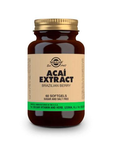 Seleccionamos las mejores plantas en comprimidos ACAÍ EXTRACTO DE BAYA DE BRASIL. Cápsulas Blandas.
