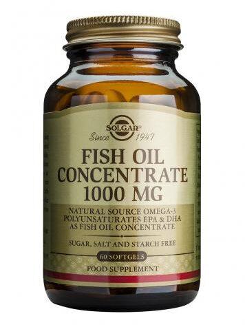 Baja los niveles de colesterol ACEITE DE PESCADO CONCENTRADO 1.000mg.