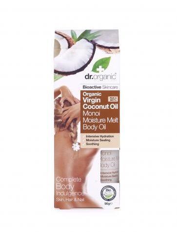 Cuidate con nuestros productos de línea corporal Aceite corporal con Monoi y aceite de Coco Orgánico 100ml