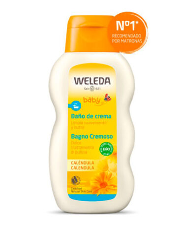 Cuidate con nuestros productos de línea corporal BAÑO DE CREMA DE CALENDULA BIO 200ml