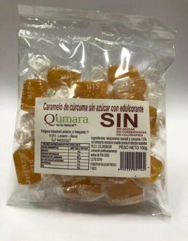 Endulzate con los caramelos y gominolas CARAMELOS DE CURCUMA SIN AZUCAR CON EDULCORANTE 100GR