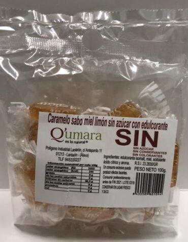 Endulzate con los caramelos y gominolas CARAMELOS DE MIEL Y LIMON SIN AZUCAR CON EDULCORANTE 100GR