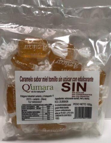 Endulzate con los caramelos y gominolas CARAMELOS DE MIEL Y TOMILLO SIN AZUCAR CON EDULCORANTE 100GR