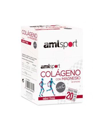 Cuida de tus huesos y articulaciones COLAGENO+MAGNESIO+VIT.C AML SPORT20 STICKS