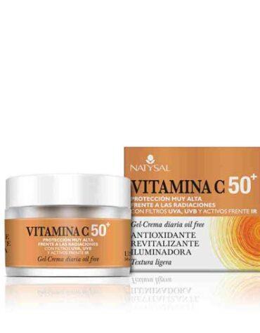 Cuidate con nuestros productos de línea facial CREMA VITAMINA C 50+