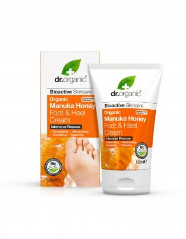 Cuidate con nuestros productos de línea corporal Crema para pieS y talones de miel de Manuka 125ml