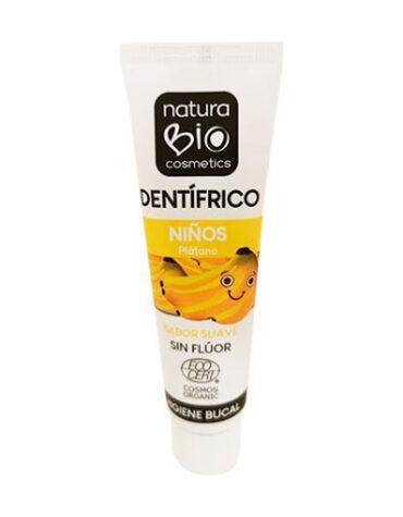 Cuidate con nuestros productos de higiene bucal DENTIFRICO NIÑOS PLATANO SIN FLUOR BIO 50ML