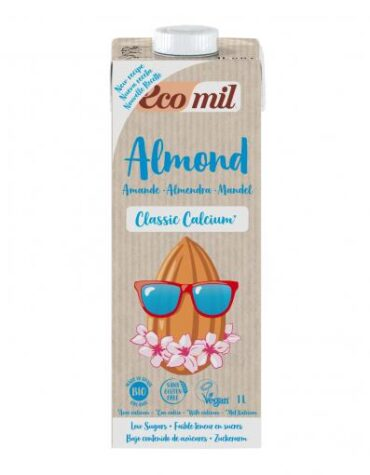 Descubre nuestras bebidas ECOMIL ALMENDRA CLASSIC CALCIO BIO S/GLUTEN VEGANO 1L