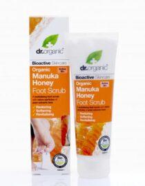 Cuidate con nuestros productos de línea corporal Exfoliante para pies de miel de Manuka125ml