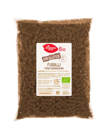 Disfruta del arroz y pasta FUSILLI DE TRIGO SARRACENO SIN GLUTEN BIO, 500 g