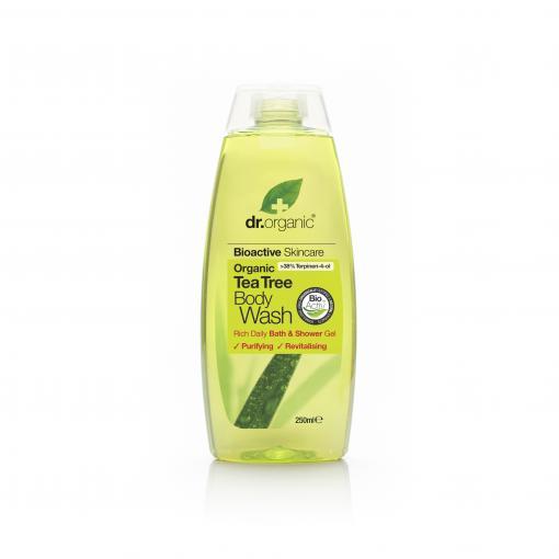 Cuidate con nuestros productos de línea corporal Gel de ducha de árbol de té250ml