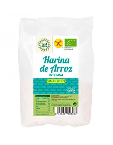 Descubre nuestras harinas y sémolas HARINA DE ARROZ INTEGRAL S/GLUTEN 500G