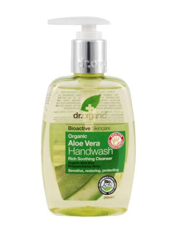 Cuidate con nuestros productos de línea corporal Jabón en gel para manos de Aloe Vera Orgánico 250ml
