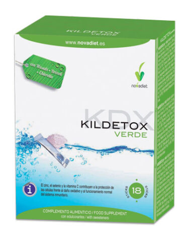 Para ayudar con el control de peso KILDETOX 18 sobres