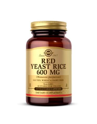 Baja los niveles de colesterol LEVADURA ROJA DE ARROZ 600mg (Monascus purpureus). Cáps.Vegetales.