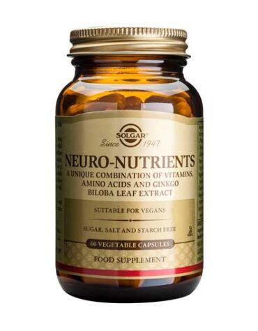 Relaja y controla tu sistema nervioso NEURO NUTRIENTES 60 Cápsulas Vegetales.