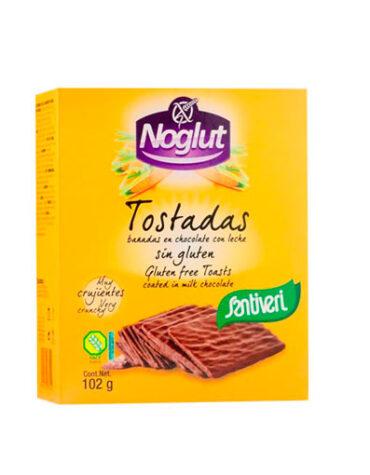 Descubre nuestros productos para celiacos NOGLUT TOSTADAS BAÑADAS EN CHOCOLATE CON LECHE S/GLUTEN 6 UNIDADES