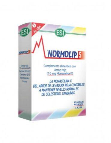 Baja los niveles de colesterol NORMOLIP 5 (30CAP.)*