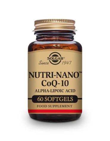 Cuidate con los antioxidantes Nutri-Nano™ CoQ-10 con ÁCIDO ALFA LIPOICO. Cápsulas Blandas.