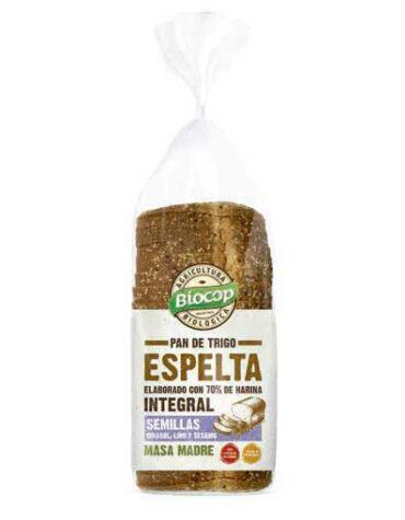 Disfruta de nuestro pan PAN MOLDE TRIGO ESPELTA INTEGRAL SEMILLAS