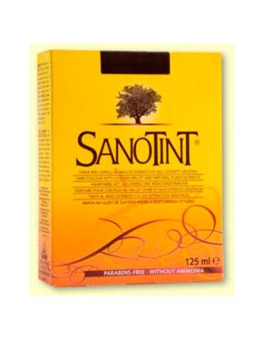 Cuidate con nuestros productos de línea capilar SANOTINT Sensitive 74 Castaño claro