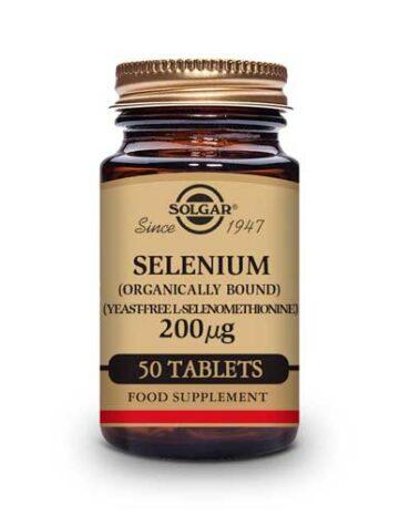 Cuidate con los antioxidantes SELENIO 200 MG. 50 COMPRIMIDOS