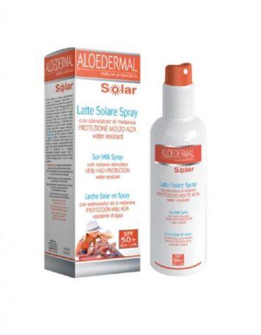Protejete con nuestra línea solar SOLAR ALOEDERMAL LECHE SPRAY FP-50+