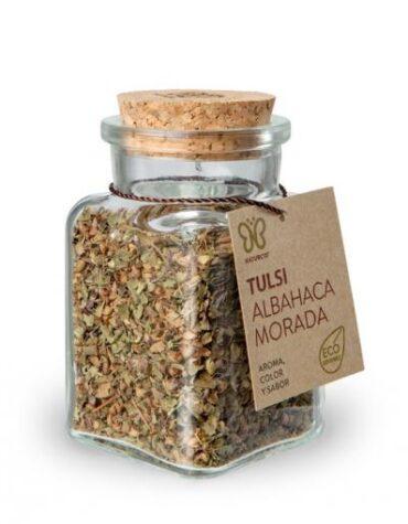 Descubre nuestras sales, condimentos y salsas TULSI - ALBAHACA MORADA 15 GRS ECO VEGANO