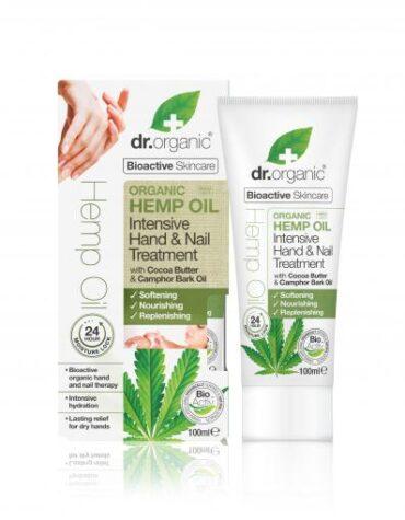 Cuidate con nuestros productos de línea corporal Tratamiento intensivo manos y uñas de aceite cáñamo100ml