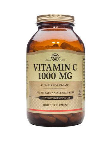 Cuidate con los antioxidantes VITAMINA C 1000mg 250 Cápsulas Vegetales.