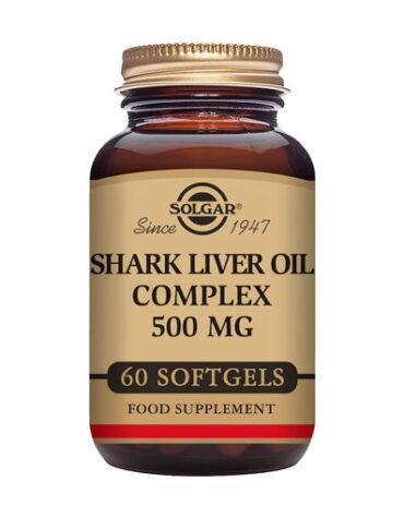 Baja los niveles de colesterol ACEITE HIGADO DE TIBURON 500 MG 60 CAPSULAS