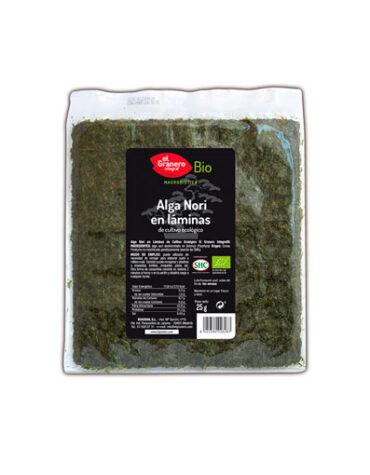Descubre la comida macrobiótica ALGA NORI EN LÁMINAS BIO, 25 g