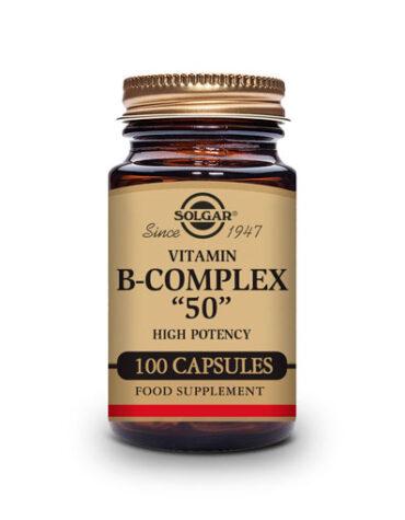 Cuidate con las vitaminas B-COMPLEX 50 100 CAPSULAS VEGETALES