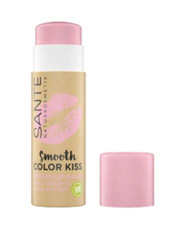 Cuidate con nuestro maquillaje BALSAMO LABIAL COLOR KISS 04 SOFT ROSE BIO