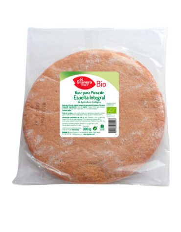 Disfruta de nuestro pan BASES DE TRIGO ESPELTA INTEGRAL PARA PIZZA BIO, 2 UND, 300 g