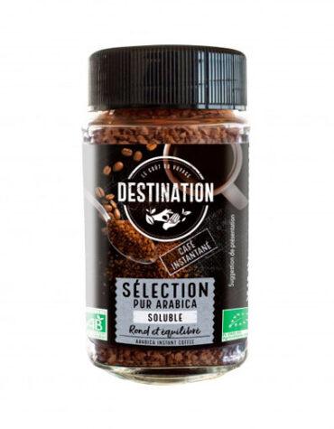 Disfruta de las bebidas solubles CAFE INSTANTANEO ARABICA ROBUSTA BIO, 100 g