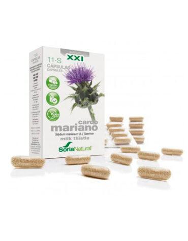 Seleccionamos las mejores plantas en comprimidos CAPSULAS 11S CARDO MARIANO LIBERACION PROLONGADA